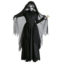Halloween Costume Ghost Bride Devil Vampire Witch Party Party Stage Performance Wear Black XL New iwish halloween wind up green ghost goblin zombies jump vampire winding walking frankenstein jumping kids toys all saints day