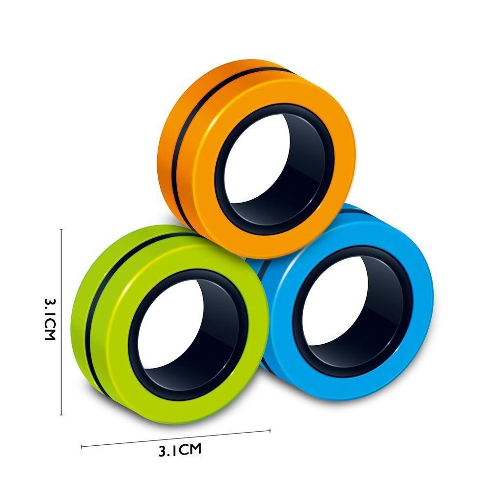 Bracelet-Ring Fidget-Toys Finger-Spinner Stress Magnetic Zabawki Antysresowe 6/9PCS img2