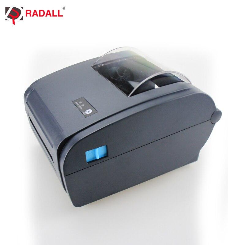 Купить с кэшбэком High quality Thermal Label Printer Barcode printer 110mm Logistic USB/Bluetooth Auto Peeling Portable Printer RD-9210