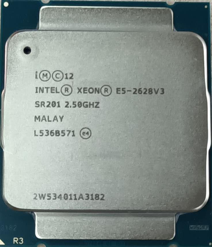 Процессор Intel Xeon E5 2628 V3 2,50 ГГц 8-ядерный 8-поточный E5 2628V3 LGA2011-V3 85 Вт 22 нм
