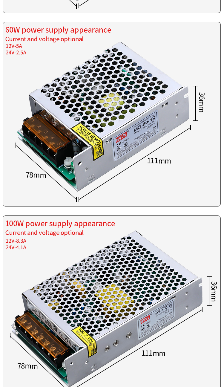 H3b19a4ae472b43efa3b50b0248a85890i - NVVV switching power supply 15 w-400 w ac110/220v dc 5v 12 v 24 v 36 v 48 v60 v dc power supply (400w60v6.7a for RD6006)