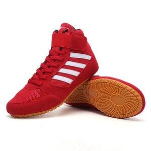 MMA-Botas de combate de boxeo profesionales unisex, calzado antideslizante para entrenamiento de boxeo