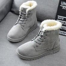 2020 женская зимняя обувь на снежную погоду; Теплые ботильоны на плоской подошве размера плюс, кружевные туфли на высоком тонком каблуке; Женс...