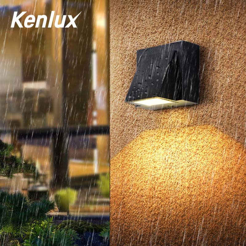 Kenlux 3W  Led Wall Lighting Hot Energy-saving Waterproof Lamp Indoor Outdoor Porch LED Wall Lamp WW/WH AC 85-265 Garden  Light