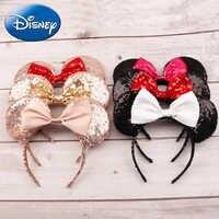 Minnie Mouse de Disney tocado que juego de cabeza de Mickey las orejas de las cintas para el pelo de la cabeza de princesa de juguetes chico regalo