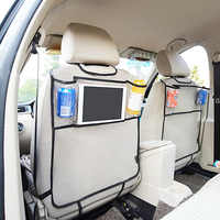 Organizador de asiento trasero de coche Universal, bolsa de almacenamiento, bolsillo colgante, bolsillo para teléfono, accesorios para automóvil