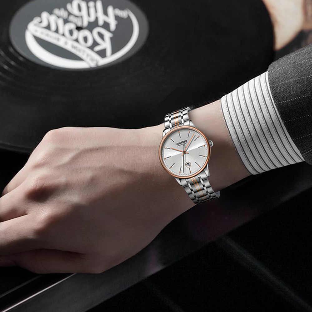 Cadisen サファイア自動機械式腕時計メンズ日本 NH35 運動トップブランドの高級メンズ腕時計防水レロジオ masculino