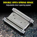 2 Pcs Stainless Steel Double Action Spring Door Hinge Durable for Cafe Bar Saloon HUG-Deals