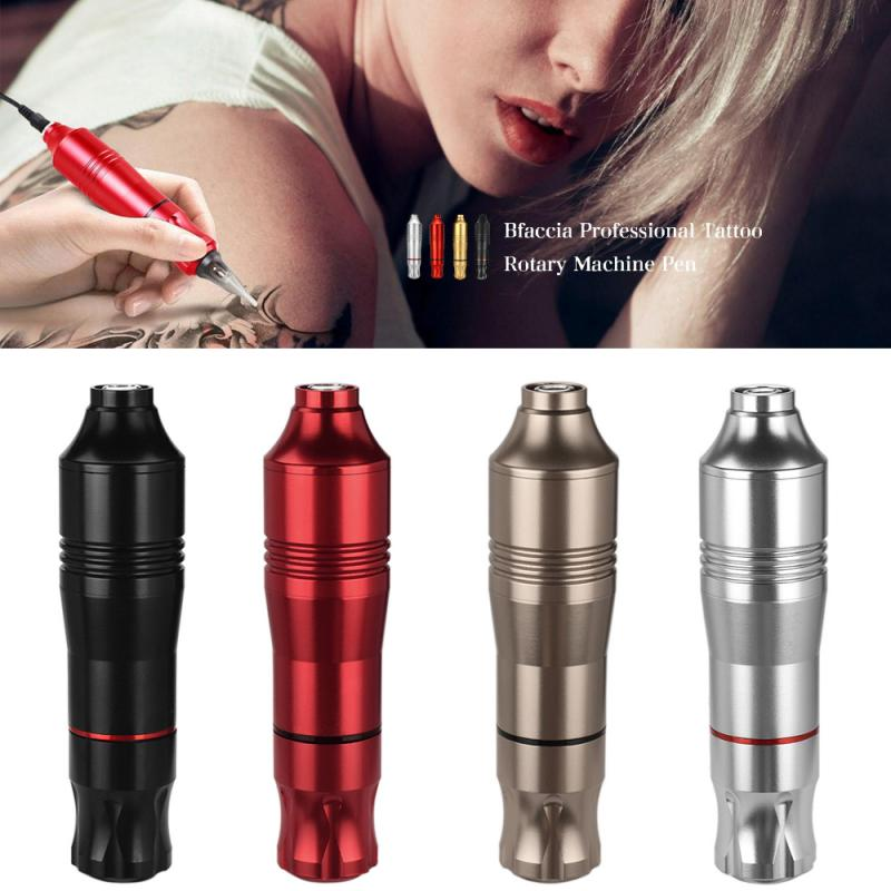 Hot Tattoo Machine Professional Rotary Tattoo Pen Carved Tattoo Embroidery Body Art Beauty Tool Black Red Silver TSLM1