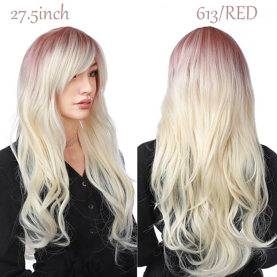 peruca rosa roxo ombre cinza marrom perucas para mulher
