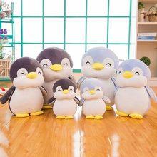 Macio & largo pelúcia pinguins animal dos desenhos animados boneca presente de aniversário de natal