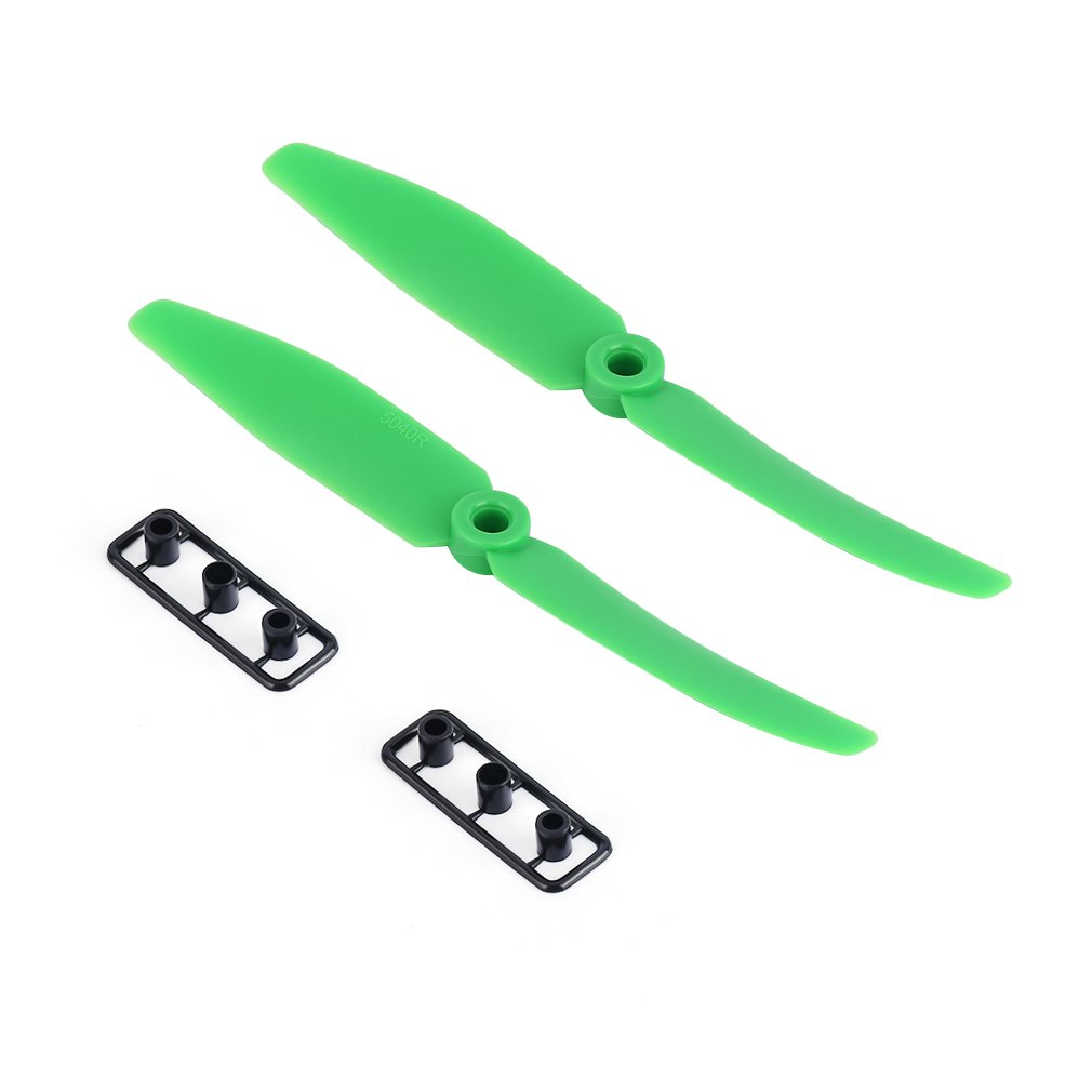 2 pair 5.0x4.0 <font><b>5040</b></font> Propellers ABS <font><b>Props</b></font> CW CCW Rotation for Multirotor QAV Green image