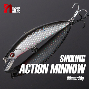Image 1 - NOEBY Fishing Sinking Minnow ABS Lure 90mm/29g Bass Pike Walleye Trout Plastic Wobbler Hard Baits Swimbaits Artificial Lure Sea