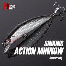 NOEBY pesca affondamento pesciolino esca ABS 90mm/29g Bass Pike Walleye trota plastica Wobbler esche rigide Swimbaits esca artificiale mare