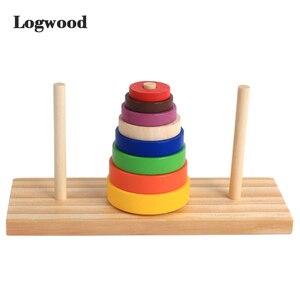 Hanoi Tower Kids Educational Toys Wooden