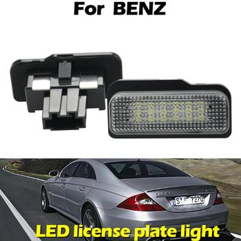For Mercedes BENZ CLS C E Class W211 W203 W219 R171 white LED Car Rear license plate light number plate lamp water pump for mercedes benz merce c class w203 c 180 203 035 1112004301