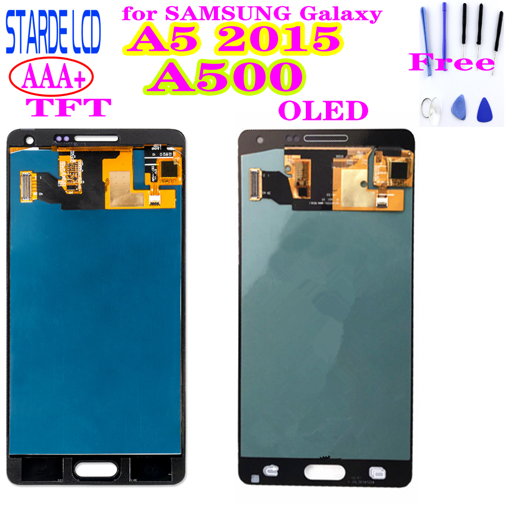 STARDE Replacement LCD For <font><b>Samsung</b></font> Galaxy A5 2015 A5000 <font><b>A500FU</b></font> A500 A500M A500F LCD Display Touch Screen Digitizer Assembly image