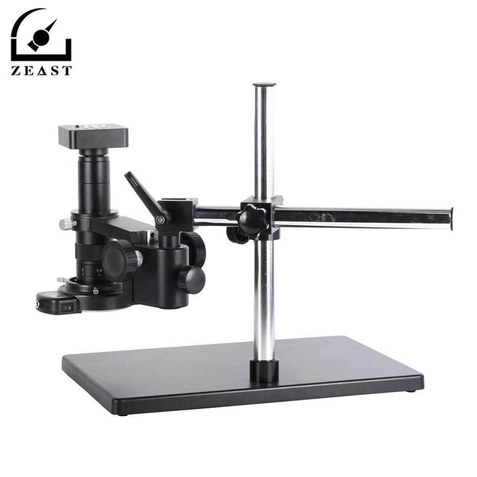 Appareil-photo de Microscope vidéo d'industrie numérique de 34MP HDMI Usb HD + lentille de 180X C-MOUNT avec 56 lumière LED + support universel de grand Boom