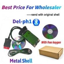 4 Stks/partij Fabriek Prijs! Nieuwe Vci Vd DS150E Cdp Vd Tcs Cdp Pro Bluetooth Voor Delphis Obd2 Diagnostic Tool Met Nieuwe Relais Met Usb