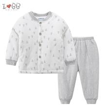 Детские слиперы набор мальчиков пижамы зимние теплые пижамы из хлопка с длинными рукавами в стиле унисекс