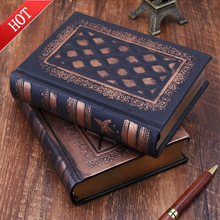 Leather Retro Vintage Diary Journal Notebook Blank Hard Cover Sketchbook Paper Stationery Travel School Sdudent Gifts