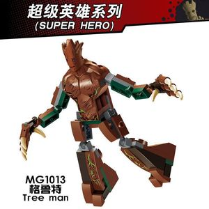 Groot Superhero Puzzle Assembly Building Building-block Toys Christmas Gifts Compatible with DIY Educating Children Block Size(China)