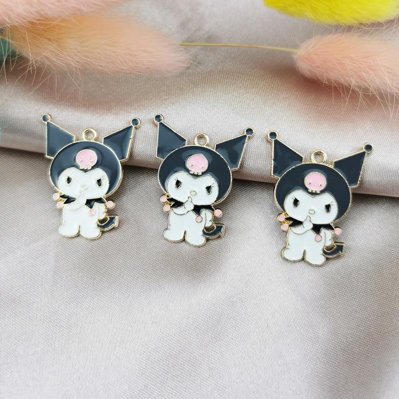 10pcs Cartoon figureEnamel Charms Pendants Cute Dancing Snowbaby Metal Charms DIY Bracelet Earrings For Jewelry Accessories 1