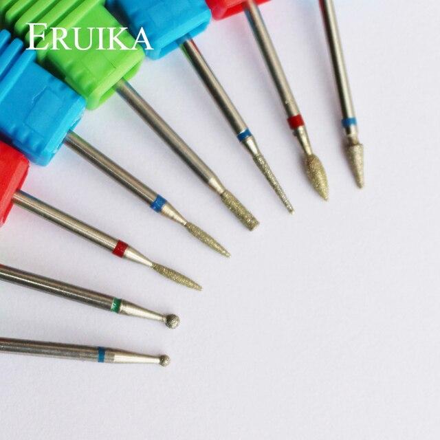 ERUIKA 8 Type Diamond Nail Drill Bit Rotary Burr Bit Pedicure Tools Electric Nail Manicure Machine Drill Accessories Nail Mills 1