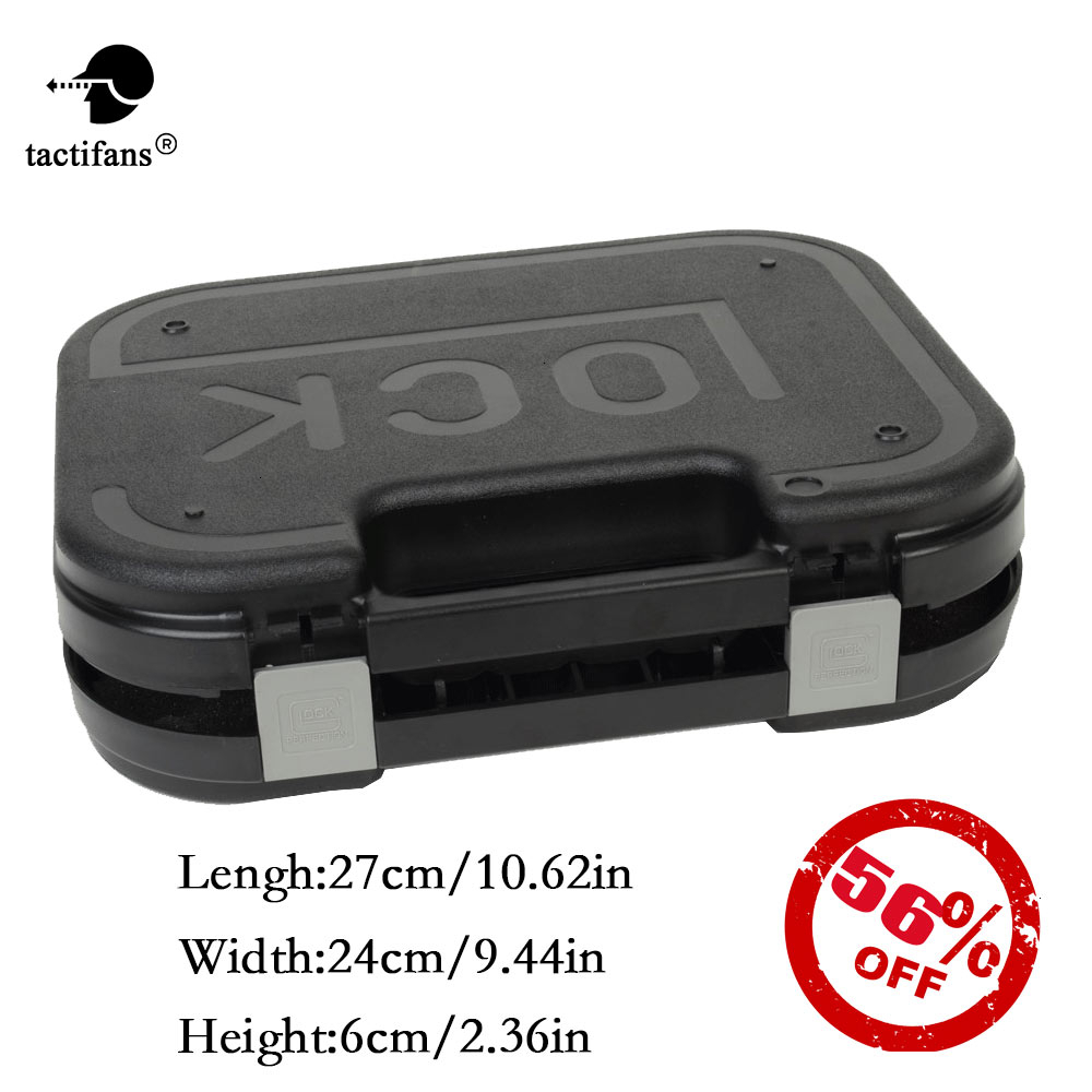 Tactifans GLOCK ABS Pistol Case Tactical Hard Pistol Gear Box Gun Case Padded Foam Lining For Hunting Shooting Accessories
