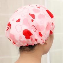 Cute Printing Elastic Shower Caps Thick Women Waterproof Shower Cap For Ladies Girl Hat Hai