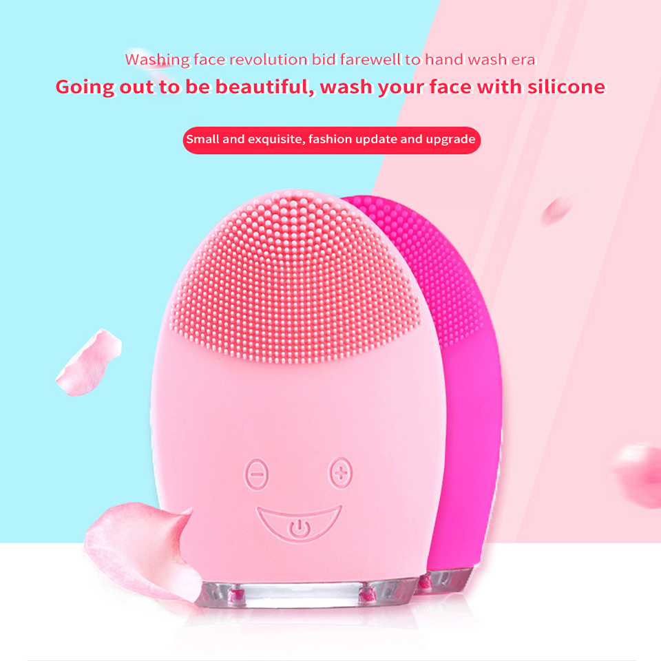 Facial Cleansing Brush Electric Face Cleansing Brush Sonic Facial Cleaning Brush Facial Cleanser Washing Machine Silicone
