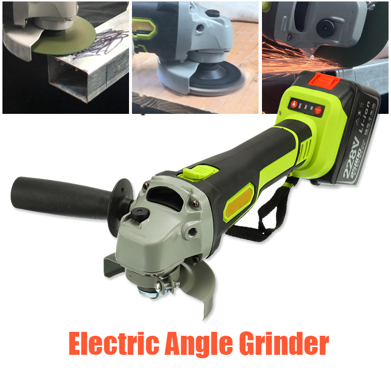Elektrische Winkel Grinder 128 V/228 V Cordless Große Kapazität Batterie Polierer Polieren Schleifen Maschine Holz Metall Schneiden Werkzeug set