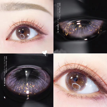 2pcs/pair Candy Starry sky Color Yearly Cosmetic Contact Lens Enlarge Pupil Lenses Eye 4 Styles