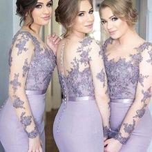 robe demoiselle d honneur Lavender Lace Bridesmaid Dress Lon