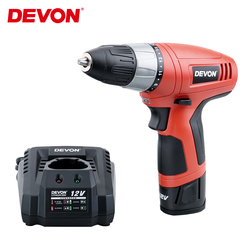 DEVON 12V Multi-function Electronic Cordless Drill  Lithium-Ion Battery Screwdriver Power Driver tools For Home Woodworking