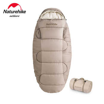 Naturehike Winter Sleeping Bag Pancake Washable  Portable Ultralight Adult Cotton Sleeping Bag Wearable Camping Sleeping Bag outdoor camping sleeping bag winter down sleeping bag ultralight ultralight sleeping bag winter for camping cold temperature