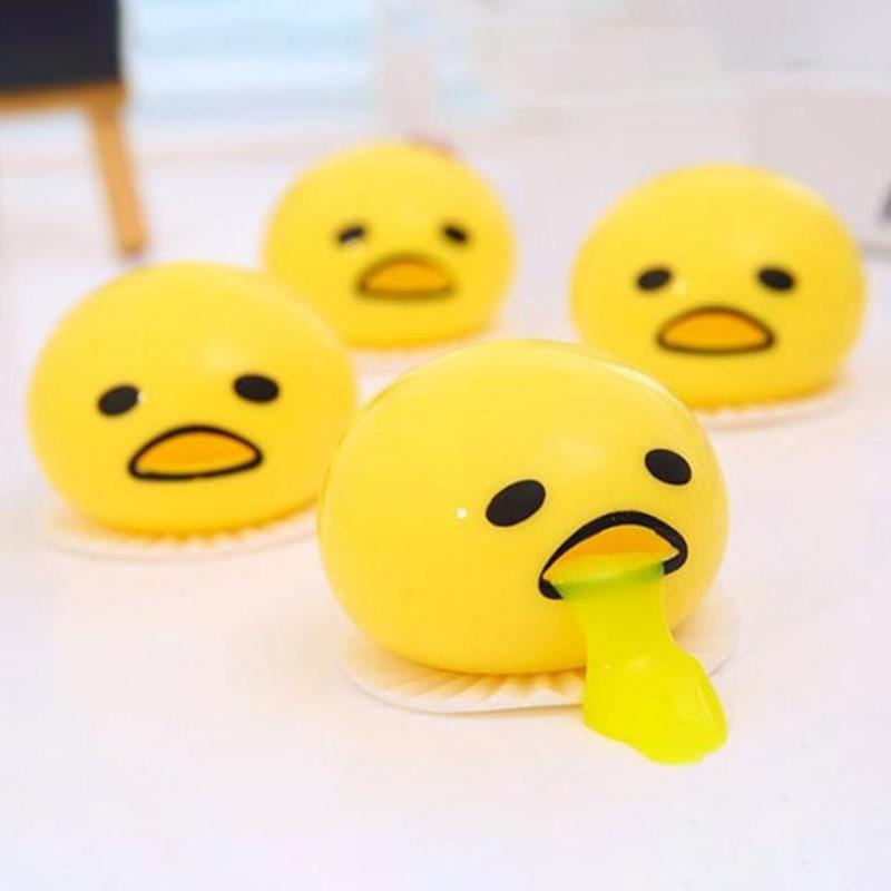 Soft Squeeze Toy Antistress Vomiting Egg Yolk Fun Gift Slow Rising Toy Children's Necessary Fun Decompression Partners