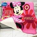 Disney Двухслойное теплое одеяло с Микки и Минни Маус шерпа для девочек  детское зимнее покрывало на кровать  диван 150x200 см