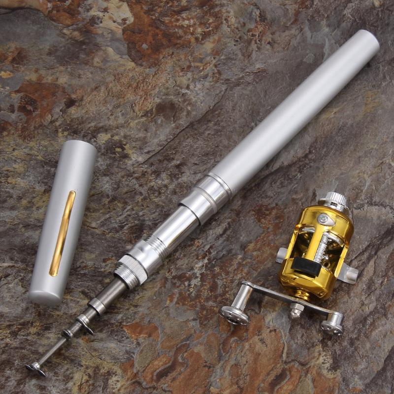Портативные удочки pruty na ryby карманные телескопические удочки в форме ручки, складные удочки, Легкие катушки, колесные снасти