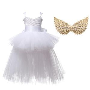 Image 4 - Halloween Unicorn Princess Dress Birthday Party Cosplay Angel Dresses Children Mesh Tutu Skirt Pink Lace Sling Costume for Girls