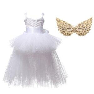 Image 4 - חג המולד Unicorn נסיכת שמלת פורים מסיבת יום הולדת קוספליי מלאך ילדי רשת טוטו חצאית ורוד תחרה קלע תלבושות עבור בנות