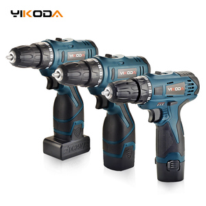 YIKODA 12V/16.8V/25V Electric Drill Rechargeable Lithium Battery Two Speed Cordless Screwdrivers Parafusadeira Power Tools