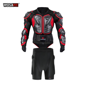 WOSAWE Motorcycle Armor Jacket Men Full Motorcycle Body Armor Motocross Racing Armor and Shorts Hip protector Protective Gear