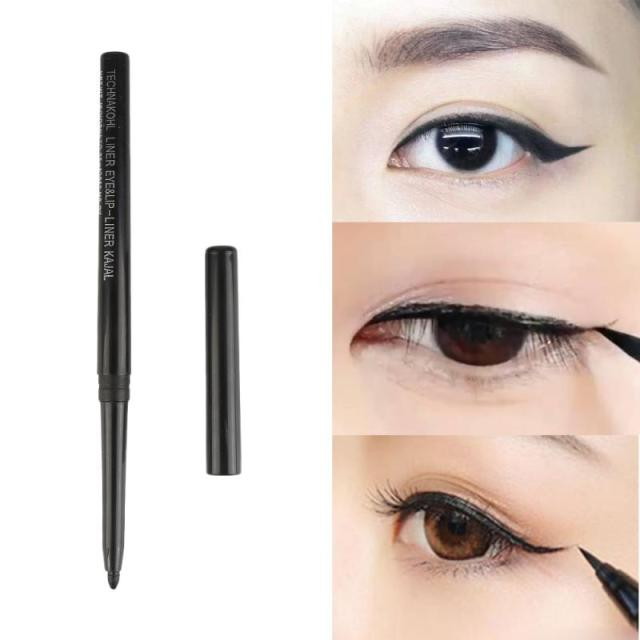 1 Waterproof Eyeliner Long Lasting Contour Big Eyes Party Makeup Automatic Rotating Eyeliner Alcohol Free Black Eye Makeup Gifts