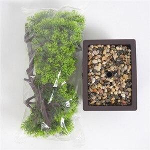 Image 5 - fleurs artificielles Simulation pin aiguilles cyprès plantes bonsaï fausse fleur plantes artificielles pots intérieur maison salon décoration créative