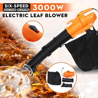 3000W 6 Speed Leaf Grinder 220V Electric Air Blower Vacuum Blowing Shredder Dust Collector Hand leaf Blower Fan Computer Cleaner