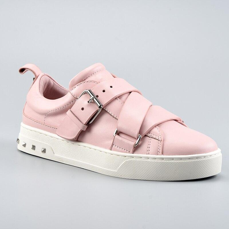 2019 zapatillas mujer; Повседневная обувь; женская обувь на плоской подошве; Высококачественная Брендовая обувь из натуральной кожи; Размеры 35 41 - 5