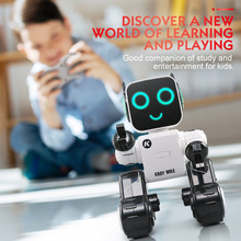 JJRC R4 RC Robot Toy Singing Dancing Talking Smart Robot For Kids Educational Toy For Children Humanoid Sense Inductive RC Robot(China)