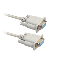 Universal 1 5 3 5M F F Serial RS232 Null Modem Cable Female to Female DB9 FTA Cross Connection 9 Pin COM Data Cable Converter cheap elenxs CN(Origin) Cable Adapter Stock DN1003-01