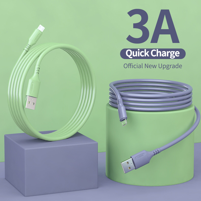 micro <font><b>usb</b></font> cable <font><b>0.25</b></font>/1.2/1.8m mobile phone cable liquid charging cable capable of fast charging for Android phones image